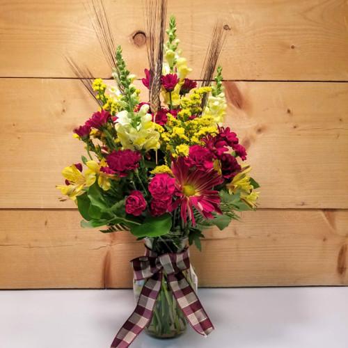 Burgundy Wheat Bouquet (SCF21D53)