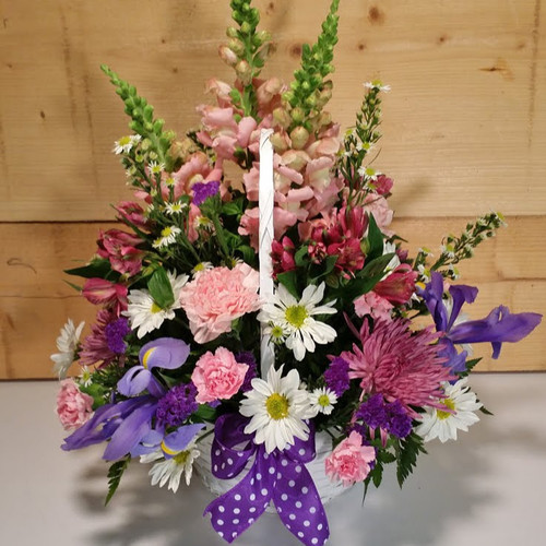 Happy Spring Flower Basket (SCF6513)