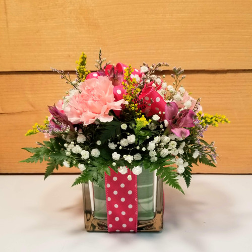 Polka Dot Blooms Bouquet (SCF7022) by Savilles Country Florist. Flower delivery to Orchard Park, Hamburg, West Seneca, East Aurora, Buffalo, NY and surrounding suburbs.