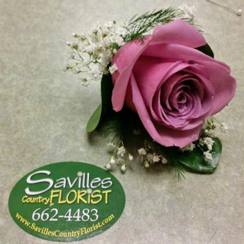 Boutonniere with Lavender Rose