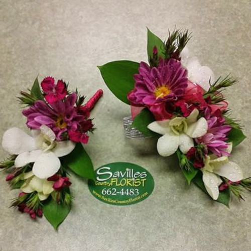 Corsage Bout Dendrobium Daisy Combo