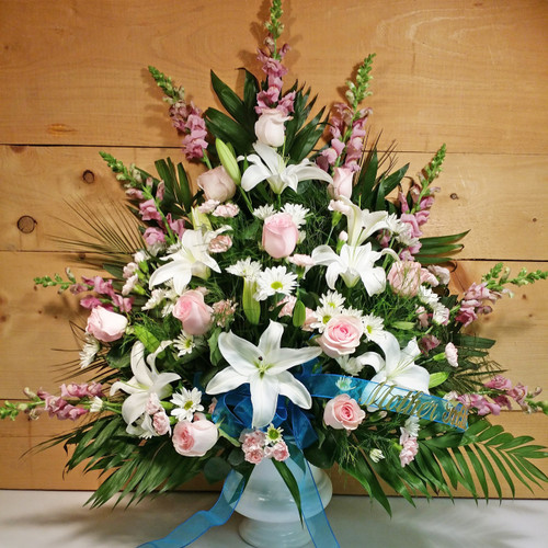 Eternal Love Arrangement by Savilles Country Florist. Flower delivery to Orchard Park, Hamburg, West Seneca, East Aurora, Buffalo, NY and surrounding suburbs.