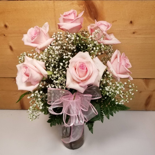 Love's Embrace Pink (99195) by Savilles Country Florist.  Flower and Plant delivery to Orchard Park, NY and the surrounding area including same day delivery to Hamburg, West Seneca, East Aurora, Blasdell and Buffalo NY