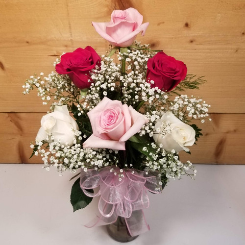 Love's Embrace Assorted (105212) by Savilles Country Florist.  Flower and Plant delivery to Orchard Park, NY and the surrounding area including same day delivery to Hamburg, West Seneca, East Aurora, Blasdell and Buffalo NY