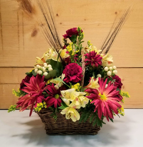 Burgundy Wheat (SCF2024) by Savilles Country Florist.  Flower and Plant delivery to Orchard Park, NY and the surrounding area including same day delivery to Hamburg, West Seneca, East Aurora, Blasdell and Buffalo NY