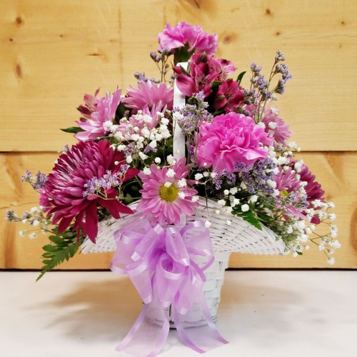 Lavender Wishes (SCF17D07) by Savilles Country Florist.  Flower and Plant delivery to Orchard Park, NY and the surrounding area including same day delivery to Hamburg, West Seneca, East Aurora, Blasdell and Buffalo NY