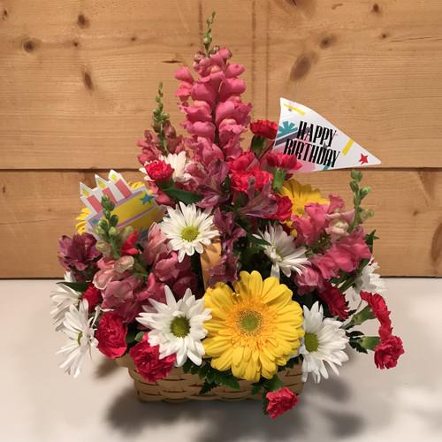 Blooming Birthday Basket