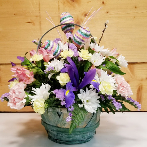 Easter Wishes (SCF18E27) by Savilles Country Florist.  Flower and Plant delivery to Orchard Park, NY and the surrounding area including same day delivery to Hamburg, West Seneca, East Aurora, Blasdell and Buffalo NY