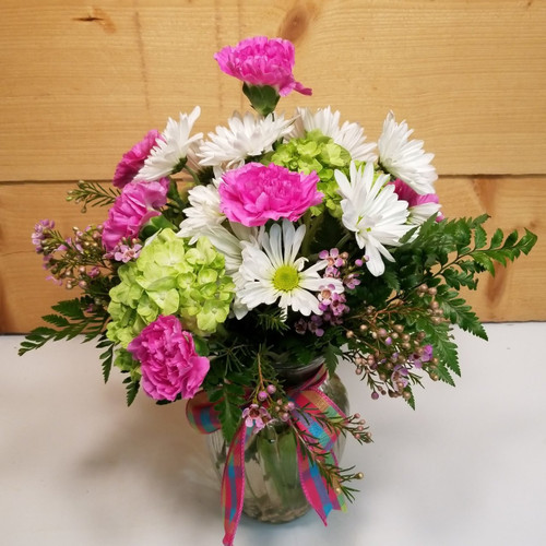 Bouquet of Joy (SCF19D10) by Savilles Country Florist.  Flower and Plant delivery to Orchard Park, NY and the surrounding area including same day delivery to Hamburg, West Seneca, East Aurora, Blasdell and Buffalo NY