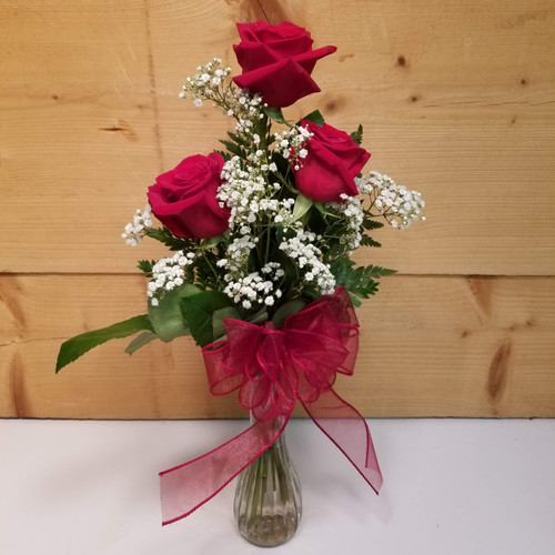 Love & Romance Trio (SCF19D51) by Savilles Country Florist.  Flower and Plant delivery to Orchard Park, NY and the surrounding area including same day delivery to Hamburg, West Seneca, East Aurora, Blasdell and Buffalo NY