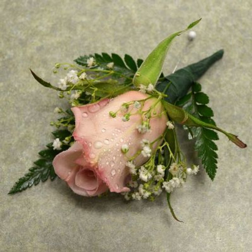 Boutonniere with Lt Pink Rose