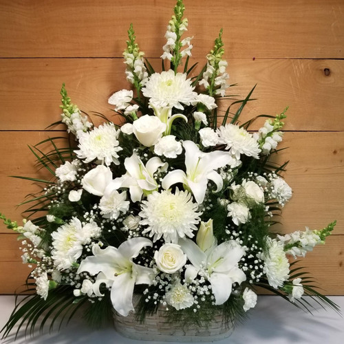 Peaceful Passage (SCF1151) by Savilles Country Florist.  Flower and Plant delivery to Orchard Park, NY and the surrounding area including same day delivery to Hamburg, West Seneca, East Aurora, Blasdell and Buffalo NY