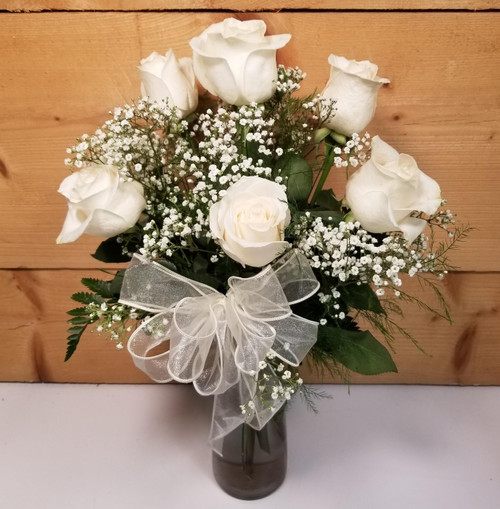 Love's Embrace White (105215) by Savilles Country Florist.  Flower and Plant delivery to Orchard Park, NY and the surrounding area including same day delivery to Hamburg, West Seneca, East Aurora, Blasdell and Buffalo NY
