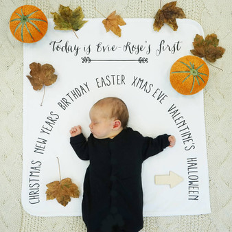 Seasonal Baby Milestone Blanket