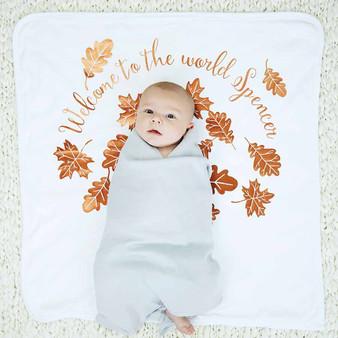 Autumn Leaves New Baby Blanket