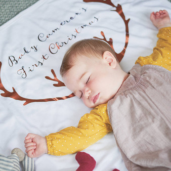 Antler Baby Blanket