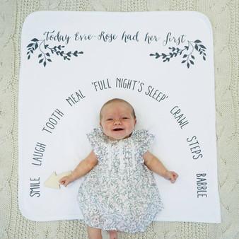 Babys First Milestone Blanket