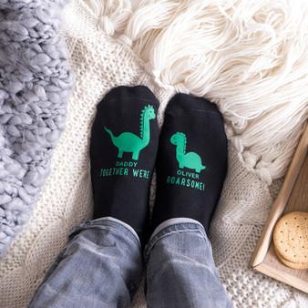 Daddy Dinosaur Socks