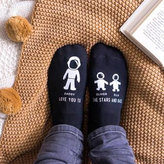 Astronaut To The Stars Mens Socks