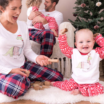 Christmas Dinosaur Family Pyjama Set