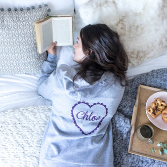 personalised heart onesie that would make a great gift for women