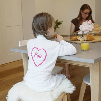 Kids Heart Dressing Gown