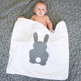 Bunny Rabbit Baby Blanket Shawl