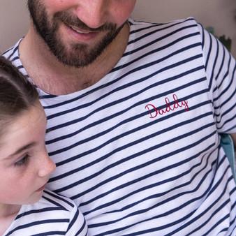 Embroidered Summer Breton Mens Tshirt Set