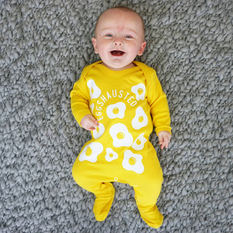 Eggshausted Baby Sleepsuit