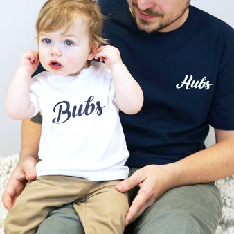 Hubs And Bubs Tshirt Set