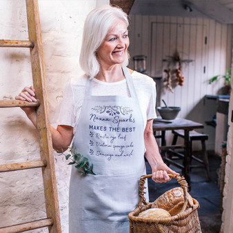 Botanical You're The Best Linen Apron