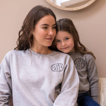 Girl Crew Matching Jumper Embroidered Set