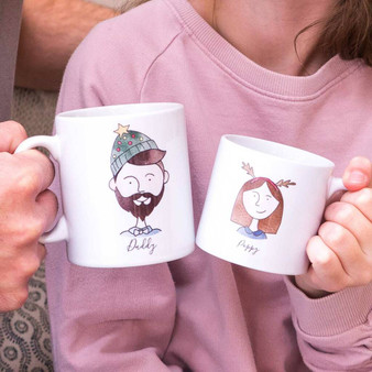 Family Portrait Christmas Mug