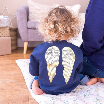Children's Angel Wings Christmas Jumper