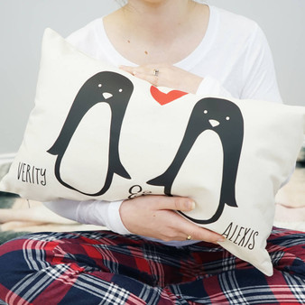 Penguin Couple Cushion