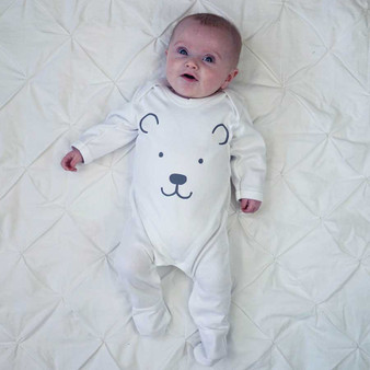 Polar Bear Feet Baby Sleepsuit