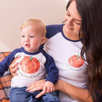 My Little Pumpkin Halloween Tshirt Set