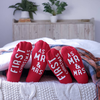 Mr And Mrs First Christmas Socks