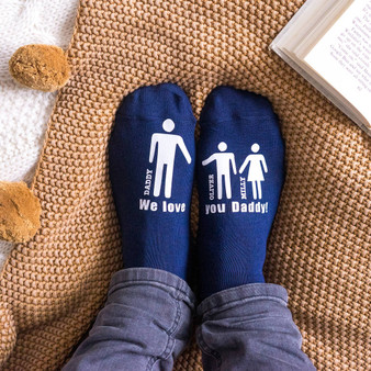 My Daddy And Me Men's Socks