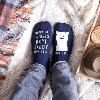 1st Father's Day Bear Socks