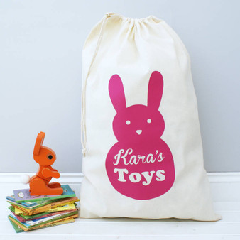 Bunny Rabbit Toy Bag
