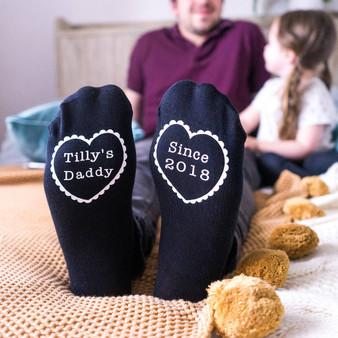 Daddy Since Mens Socks