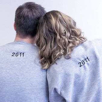 Embroidered Date Personalised Couples Jumper Set