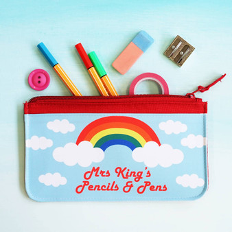 Rainbow Teacher Pencil Case
