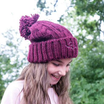 Botanical Monogram Children's Bobble Hat