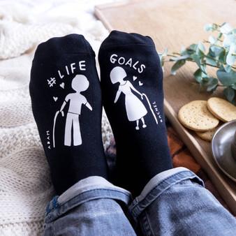 Life Goals Socks