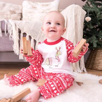 Christmas Dinosaur Children's Pyjamas