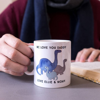 Diplodocus Watercolour Dinosaur Mug