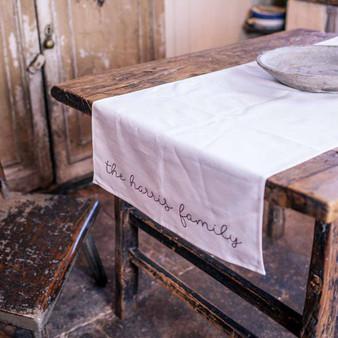 The Family Linen Table Runner