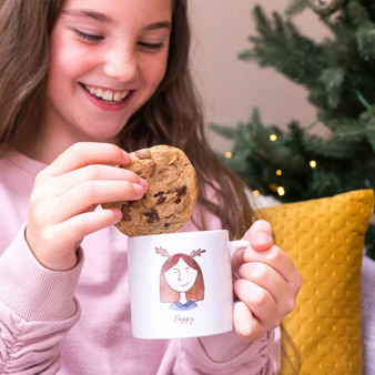 My Portrait Christmas Childrens Mug